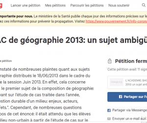 En 2013, seules 11 personnes ont signé la première pétition du bac dénonçant l'ambiguïté d'un sujet d'histoire-géographie.