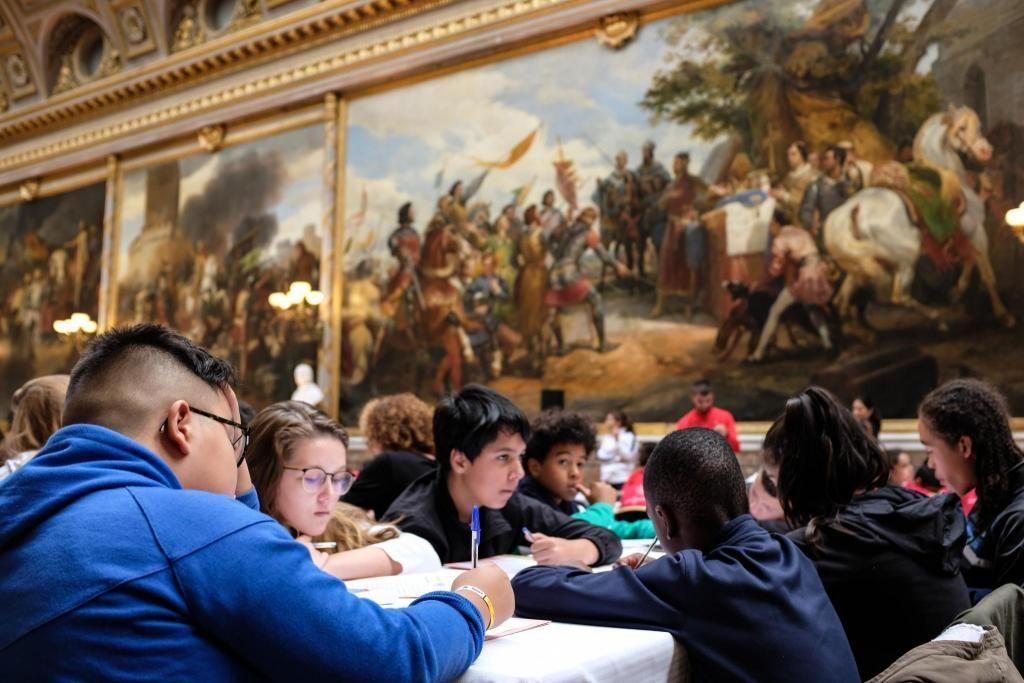 La galerie des Batailles du Château de Versailles a accueilli la finale de la Dictée pour tous. //©Florian Dacheux