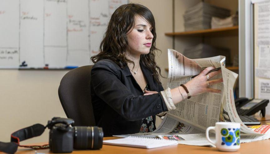 """Mathilde, 23 ans, ex-apprentie journaliste en licence pro à """"Ouest-France"""". //©Alex Giraud pour l'Étudiant"""