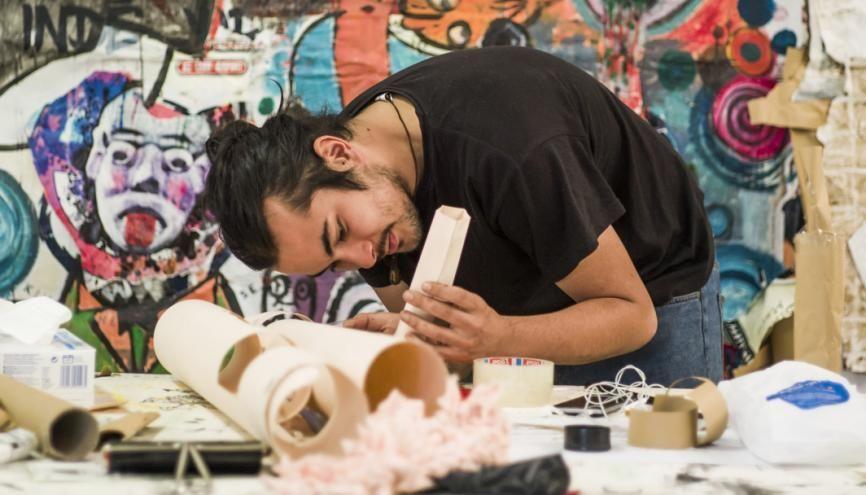 Les élèves de la HEAR (Haute École des arts du Rhin), une école publique multidisciplinaire, peuvent notamment se former au design à Mulhouse et au graphisme à Strasbourg. //©Pascal Bastien/Divergence pour l'Etudiant