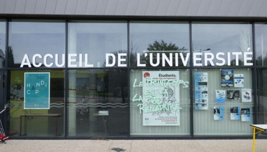 Blocage de l'Université Lumière - Lyon 2 de Bron. //©Laurent Cerino/REA