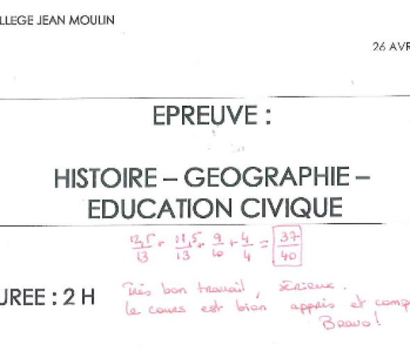 Brevet 2015 r ussir l 39 preuve d 39 histoire g ographie for Sujet examen cap cuisine corrige
