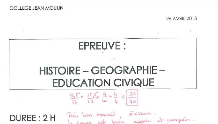 Nos conseils pour réussir l'épreuve d'histoire-géographie et éducation civique. // © DR