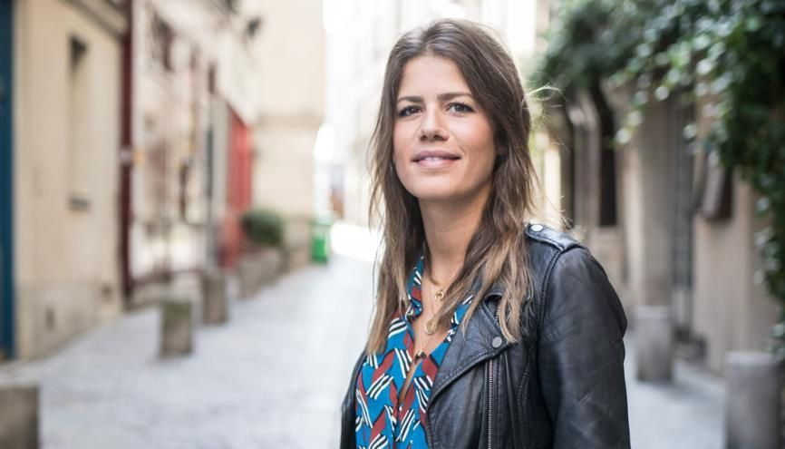 Victoire, diplômée en 2017 du master management entrepreneurial à l'EDC Paris, a créé sa marque de lingerie Chichi Castelnango. //©Laurent Hazgui/Divergence pour l'Etudiant