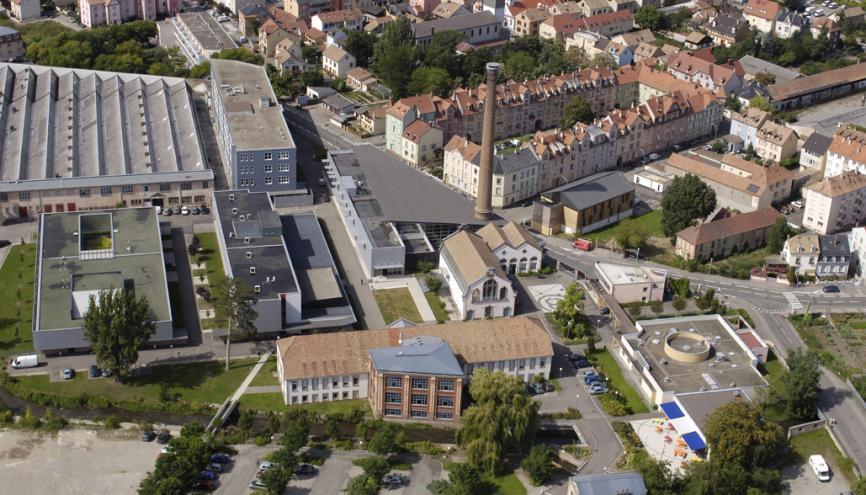 Université Mulhouse -Vue aérienne du campus du Grillenbreit à Colmar //©Philippe Bohlinger