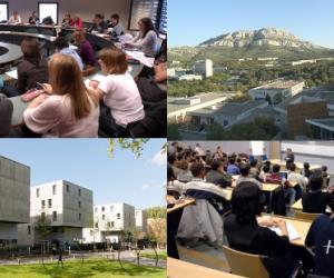 Ecoles de commerce : classement 2018-2019 de la recherche en gestion. De gauche à droite et de haut en bas : l'Ieseg, Kedge Marseille, l'Edhec et HEC.