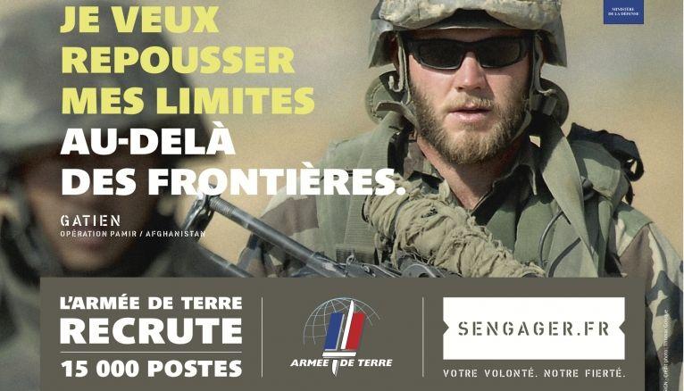 """""""Votre volonté, notre fierté"""", 9e campagne de recrutement de l'armée de terre."""