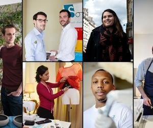 Portraits de jeunes audacieux engagés dans l'aventure de l'entrepreneuriat.