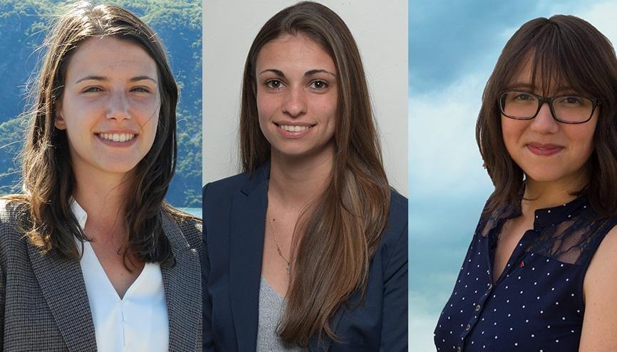 Elles sont étudiantes mais veulent devenir députées. Leur destin se joue les 11 et 18 juin 2017 aux élections législatives. (de gauche à droite : Thyphanie, Doriane et Émilie) //©Photos fournies par les témoins