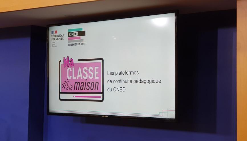 """Mise en ligne ce lundi, la plate-forme """"Ma classe à la maison"""" permet la tenue de """"classes virtuelles"""". //©Julien Toury"""