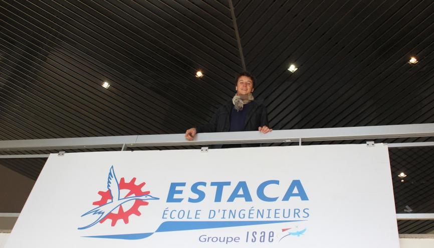 À l'ESTACA, Guillaume a choisi la spécialité espace. //©Delphine Dauvergne