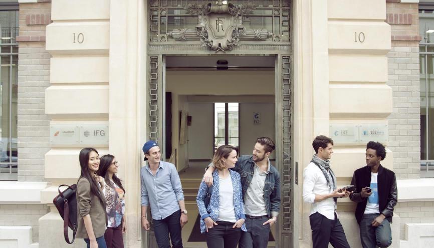 Le concours SESAME réunit huit écoles de commerce dont l'ESCE (ici le campus de Paris). //©ESCE
