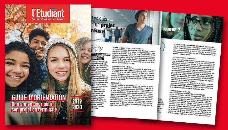 Le guide de l'orientation 2020 de l'Etudiant //©letudiant