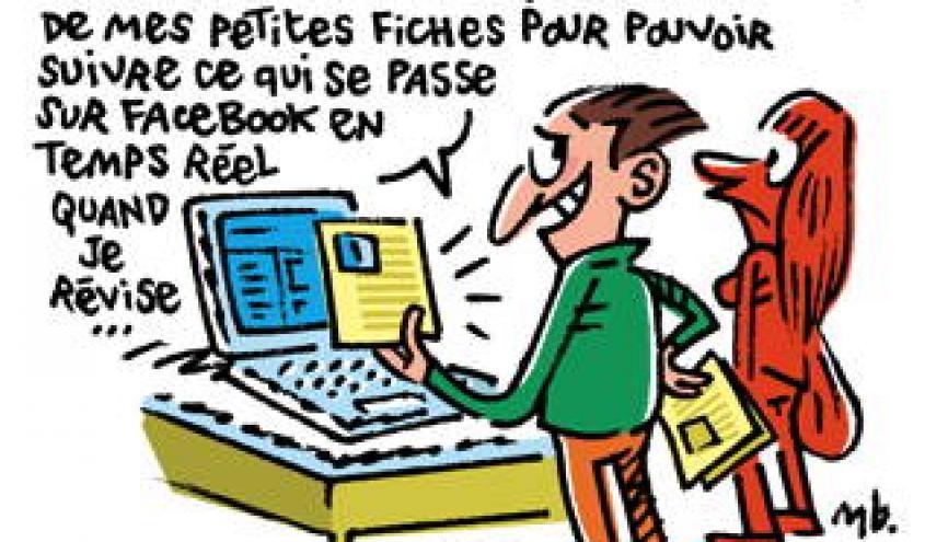 """Pour Alain Jaillet, """"le support du livre est bien plus efficace que le support numérique en matière de mémorisation"""". //©Manu Boisteau"""