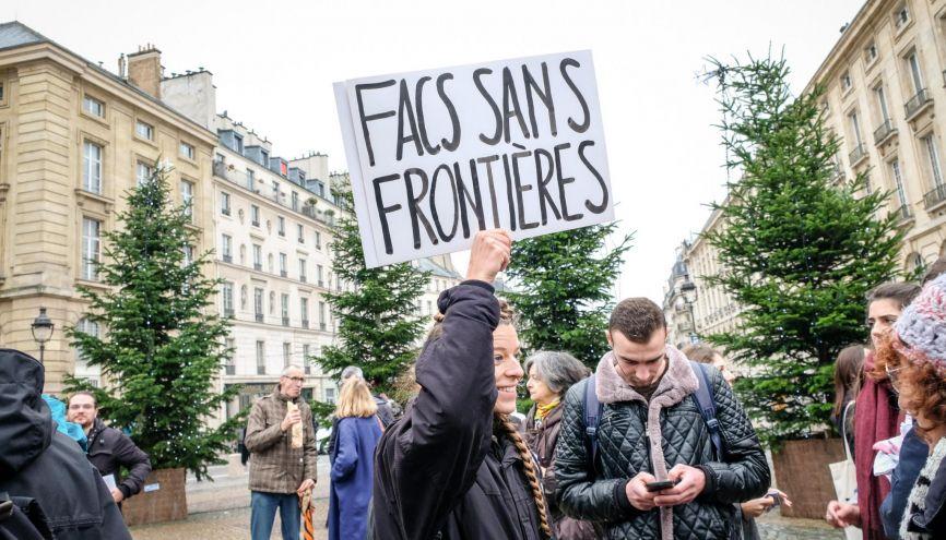 Dès décembre 2018, les étudiants ont manifesté contre la hausse des frais d'inscription pour les étrangers. //©Olivier SAINT-HILAIRE/HAYTHAM-REA