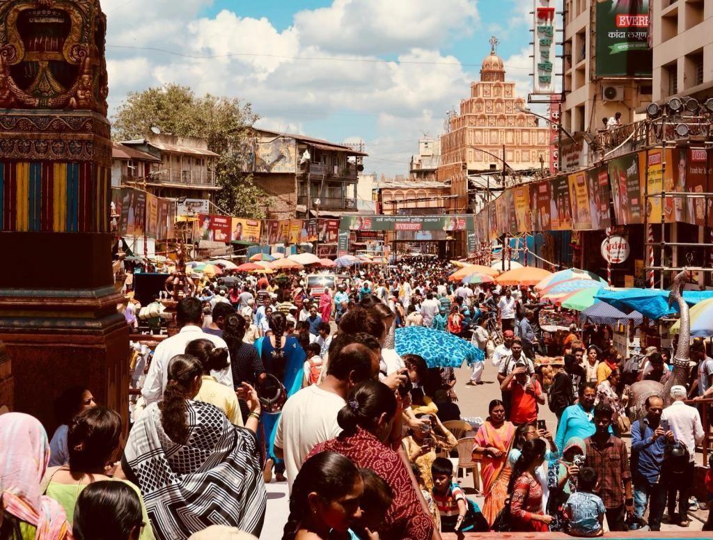 Une rue très fréquentée en Inde. //©Photo fournie par le témoin