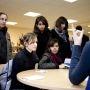 Interventions d'élèves de Centrale au forum des métiers d'ingénieures du lycée Louise-Michel, à Bobigny (93). // © Centrale Paris