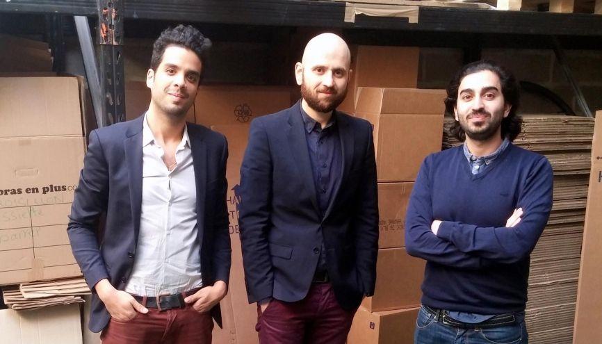 """Farid Lahlou, Zafar Baryali et Massoud Ayati (de gauche à droite) ont co-fondé """"Des bras en plus"""". //©Photo fournie par les témoins"""