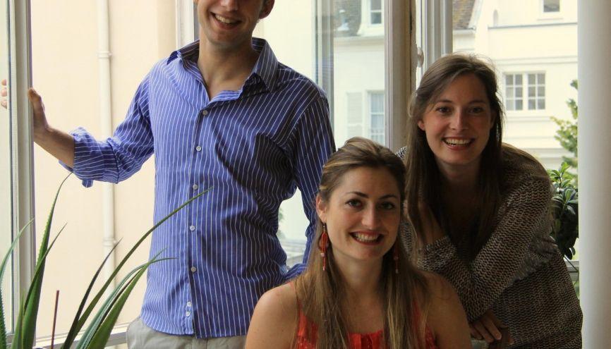 De gauche à droite : Ludovic, Loïs et Clémence, cofondateurs de Y Generation Education. //©Photo fournie par les témoins
