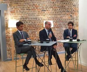 De gauche à droite : Gabriel Attal, Jean-Michel Blanquer et Julien Denormandie.