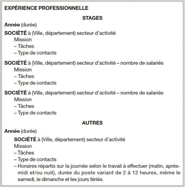 exemple cv job  u00e9tudiant sans exp u00e9rience kr77