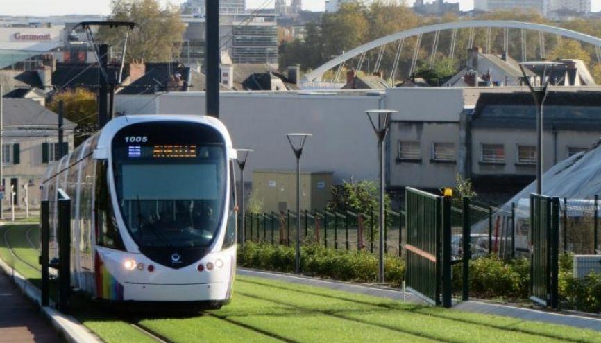 Le tramway d'Angers. //©Virginie Bertereau