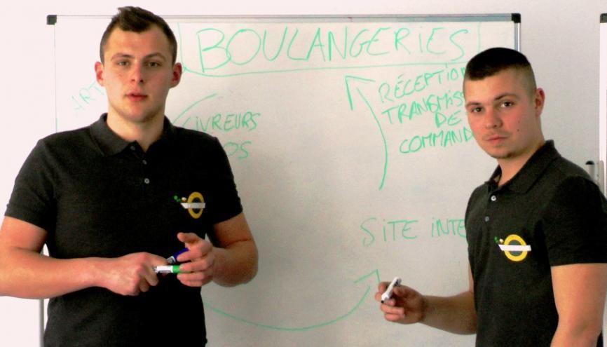 Étudiants à Dijon, Antonin et Paul lancent une campagne de financement participatif de 4.000 € pour financer leur site Internet. //©Etienne Gless