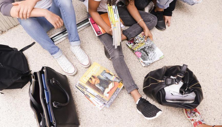 À la Plaine-de-Neauphle, de nombreux dispositifs sont mis en place pour accompagner les élèves. //©Laurent Cerino/REA