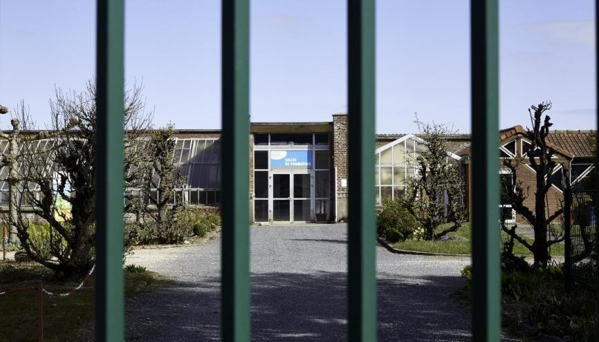 Les lycées qui rouvriront devront suivre un protocole sanitaire strict, déjà imposé dans les collèges. //©Laurent MAYEUX/REA