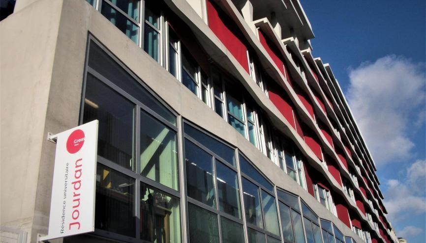 La résidence universitaire Jourdan, à Paris, offre des studios de 19 à 36 m2. //©Pauline Bluteau