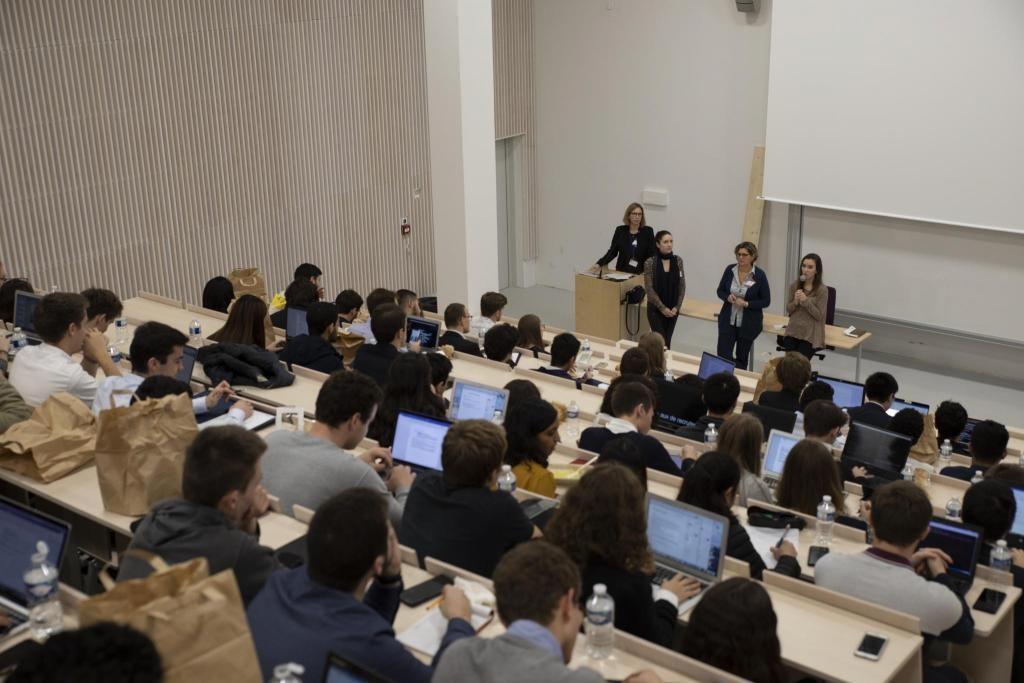 Les nouveaux locaux de Telecom Paris ont accueilli les premiers étudiants fin octobre.  //©TelecomParis