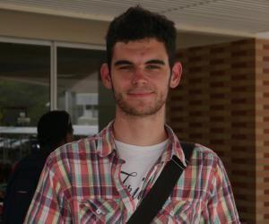 Alex, étudiant en licence de lettres à l'université de la Nouvelle-Calédonie.