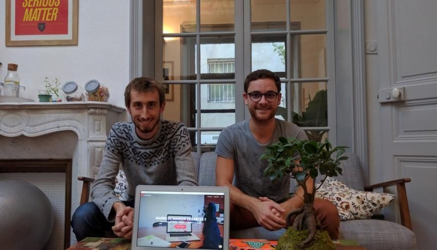 Victor Lambert et Florian Jardin ont créé Filengo pour permettre aux étudiants de trouver plus facilement les aides auxquelles ils ont droit. //©Filengo