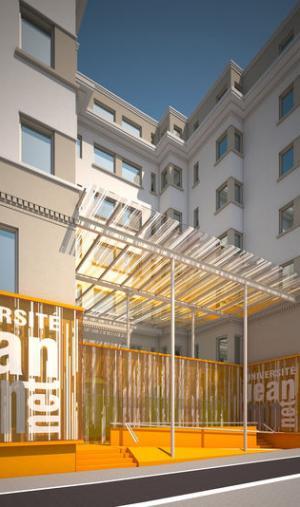 Le nouveau campus stéphanois de l'IEP de Lyon en cours d'aménagement.