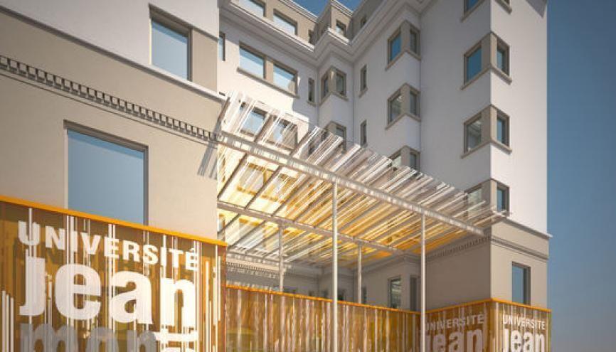 Le nouveau campus stéphanois de l'IEP de Lyon en cours d'aménagement. //©ARC'H