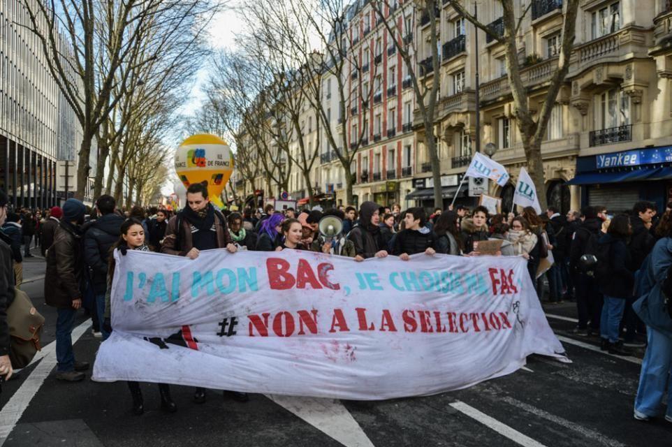 La réforme de l'entrée à l'université équivaut, pour les manifestants, à de la sélection //©erwin canard