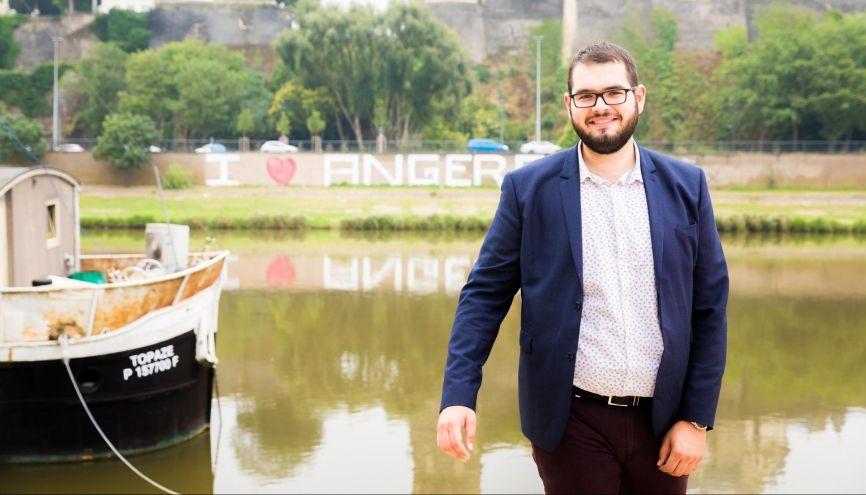 Émile, 20 ans, en L1 de géologie, à l'université d'Angers. //©Thomas Louapre/Divergence pour l'Etudiant