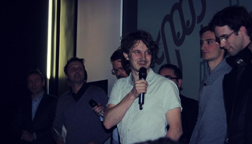 En 2015, Antoine Leblanc, de l'équipe Criteo, a remporté la troisième édition du Meilleur Dev de France. //©Théo Scappeti
