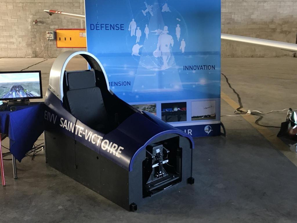 Un simulateur de vol pour les apprentis pilotes //©Clément Rocher
