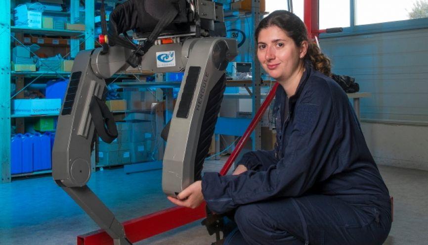 Aurélie est chef de projet exosquelette chez Rb3d. //©zir