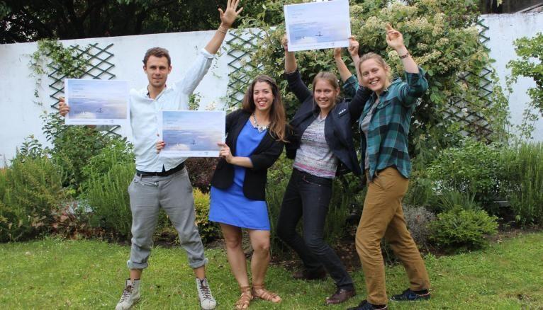 Jérémie, Lauren, Léa et Claire, lauréats du concours Jeunes reporters pour l'environnement 2017.