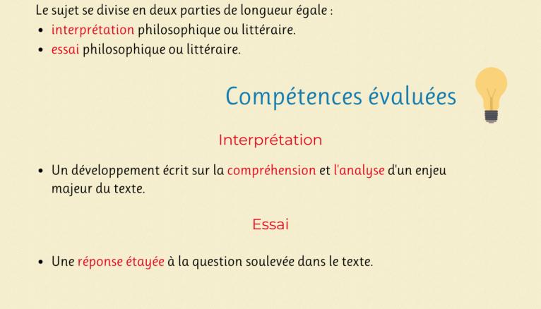 """Infographie de l'épreuve de l'enseignement de spécialités """"humanités, littérature et philosophie"""""""