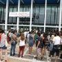 Manifestation étudiante : à l'appel de l'UNEF le 15 septembre 2014, pour dénoncer le manque de moyens en Sciences de la Nature // © Frédéric Dessort