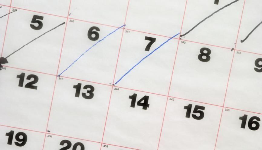À vos agendas ! Notez bien les deux jours d'épreuves du brevet pour mieux l'anticiper. //©plainpicture/Peter Glass