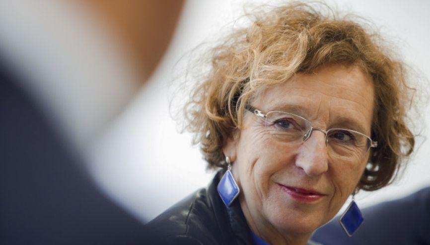 La ministre du Travail, Muriel Pénicaud, veut développer l'apprentissage. //©Nicolas Tavernier/REA