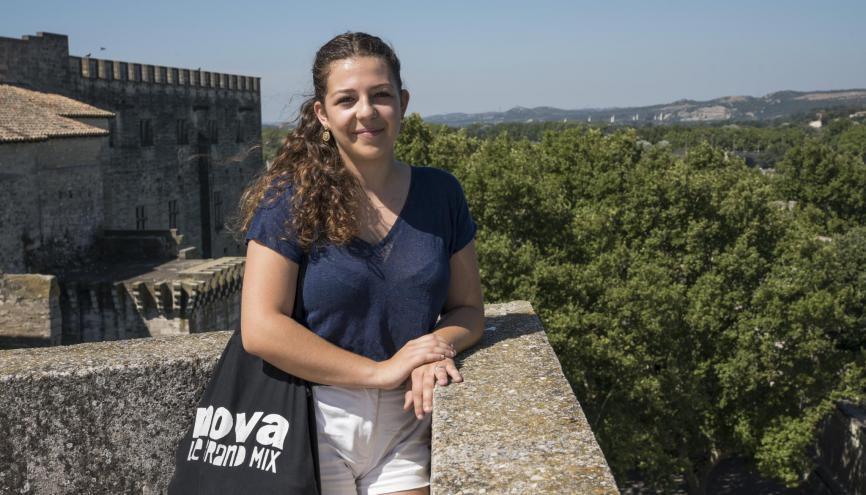 Lydia, 21 ans, en M1 stratégie du développement culturel, à l'université d'Avignon. //©Alexa Brunet/Transit pour l'Etudiant