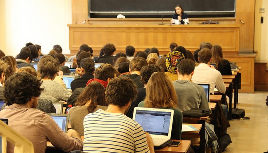 Plus d'un quart des inscrits en L1 quitte l'université l'année suivante. //©Camille Stromboni