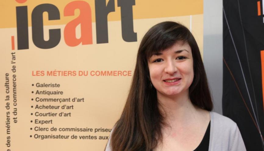 Charlotte, en MBA spécialisé marché de l'art. //©Laure Antoine