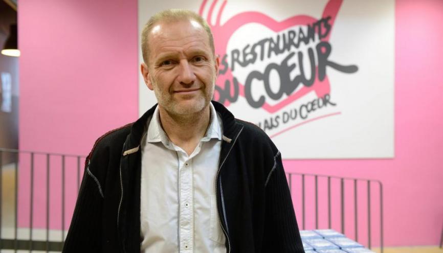 Les 20 ans d'Olivier Berthe, président des Restos du cœur //©Jacques Witt/ Les Restos du coeur