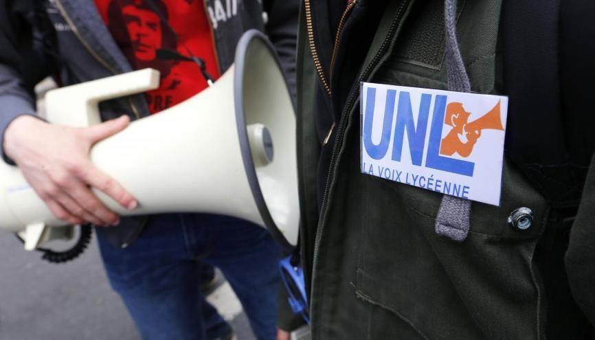 Héloïse Moreau succède à Louis Boyard à la tête du syndicat lycéen UNL. //©REA/Fred Marvaux